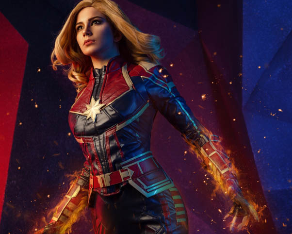 captain marvel cosplay costumes