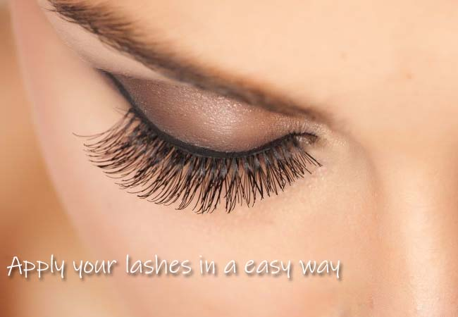 apply your lashes in a easy way