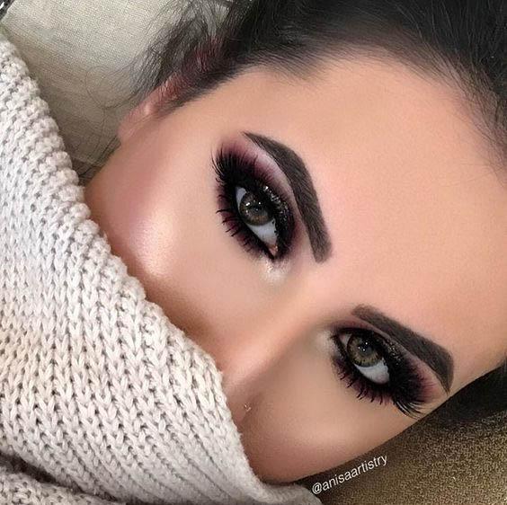 fall dark eyes makeup
